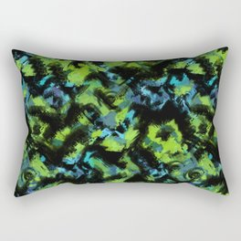 Abstract green black pattern . Rectangular Pillow