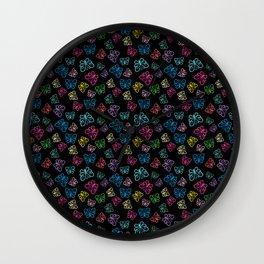 I Love Butterflies Black Background Wall Clock