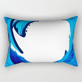 Pure Water 312 - Blue Abstract Art By Sharon Cummings Rectangular Pillow