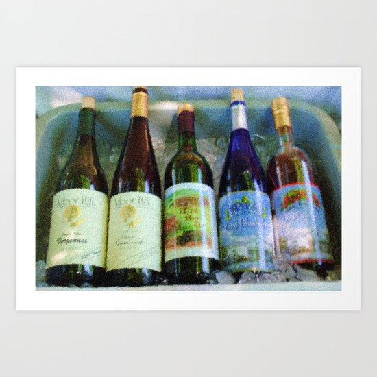 vino time Art Print