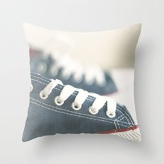 ready for walk Throw Pillow