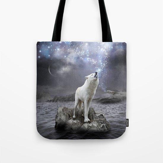 Stars Lie Hidden (Wolf Galaxy) Tote Bag