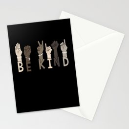 Be Kind Sign Language Multicultural Gift Stationery Cards
