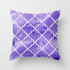 curvy purple pattern Throw Pillow