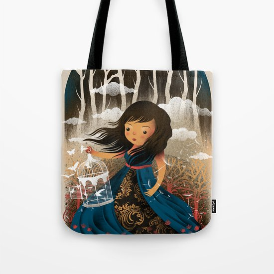 There Once Was A Girl In A Whimsical Land Tote Bag