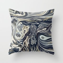Abstract Dream Stone Design 2 Throw Pillow