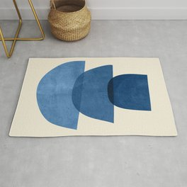 Abstract Shapes 37-Blue Rug
