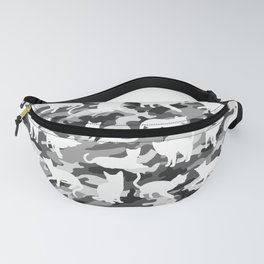 Black and White Catmouflage Camouflage Fanny Pack