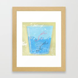 Some people can get drawn in a glass of water Framed Art Print