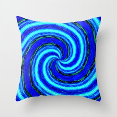 Abstract Blue Modern. Throw Pillow