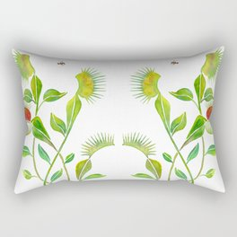 Venus Fly Trap Watercolor Rectangular Pillow