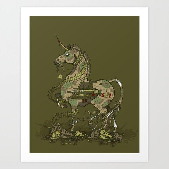 Unicorn of War Art Print
