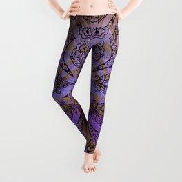 408 3 Purple Pattern Leggings