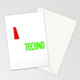 """Stay alert and recharge with this cutie and adorable sleepy tee. Grab this """"Need Techno"""" tee now!  Stationery Cards"""