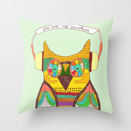 The Owl rustic song Throw Pillow