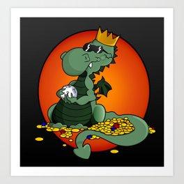 12 Sided Dragon Art Print