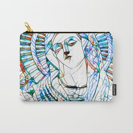Glass stain mosaic 9 - Virgin Mary, by Brian Vegas Carry-All Pouch