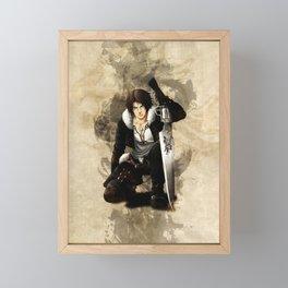 Squall Leonhart Artwork Framed Mini Art Print