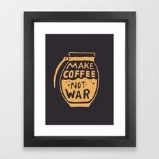 Make Coffee Not War Framed Art Print