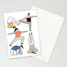 Yoga Ladies Stationery Cards