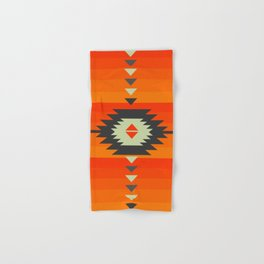 Southwestern in orange and red Hand & Bath Towel