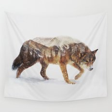 Arctic Wolf Wall Tapestry
