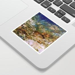 peninsula blue, monterey Sticker