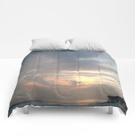 Flagler Beach Pier Comforters