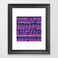Pink and Purple Triangles Framed Art Print