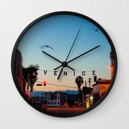 Venice Beach California Sunrise Wall Clock