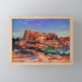COURTHOUSE BUTTE ROCK Framed Mini Art Print