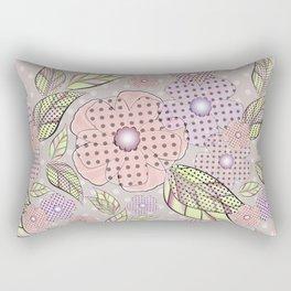 Flowers in polka dots. Rectangular Pillow
