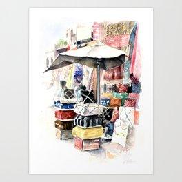 Marrakesh Souk Art Print