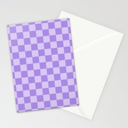 Lavender Check Stationery Cards