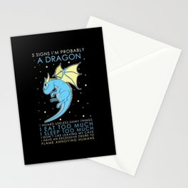 Five Signs To Be A Dragon Stationery Cards