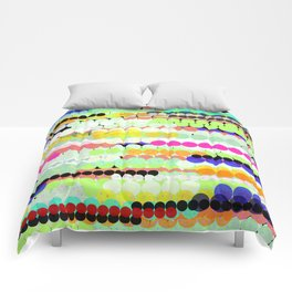 colorful abstract design Comforters