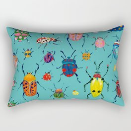 Bright Beetles Rectangular Pillow
