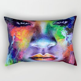 Rihanna Colors Rectangular Pillow