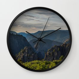 Black Canyon of the Gunnison National Park at Sunrise Wall Clock