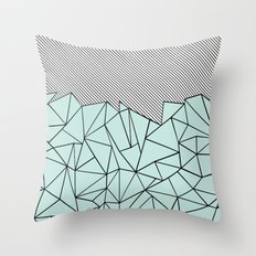 Ab Lines 45 Mint Throw Pillow