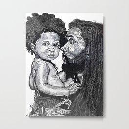 Man and Child Metal Print