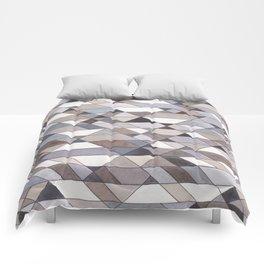 Triangle Pattern no.22 grays Comforters