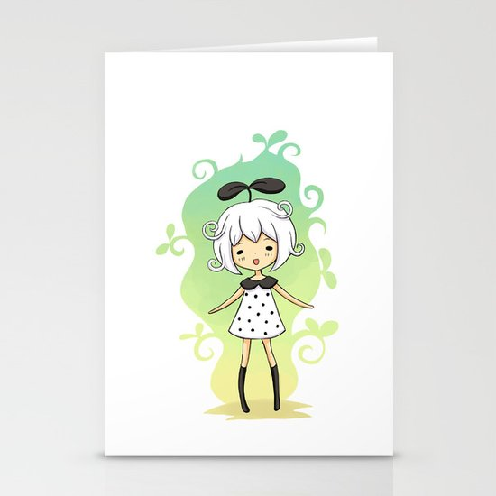 Bean Girl Stationery Cards