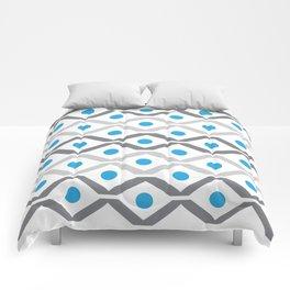 Grey & Blue Chevron Comforters