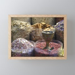 Spice souk Dubai Framed Mini Art Print