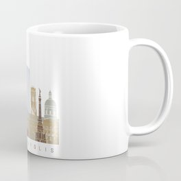 Indianapolis skyline poster Coffee Mug