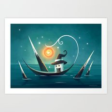 Little Witch 3 Art Print