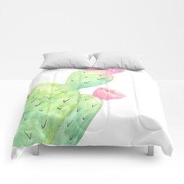 Watercolor Cactus | Buy Watercolor Art | Society 6 Comforters