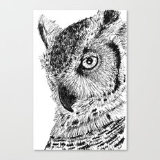 Ink Owl Canvas Print