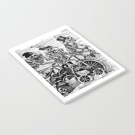 Calavera Cyclists | Black and White Notebook